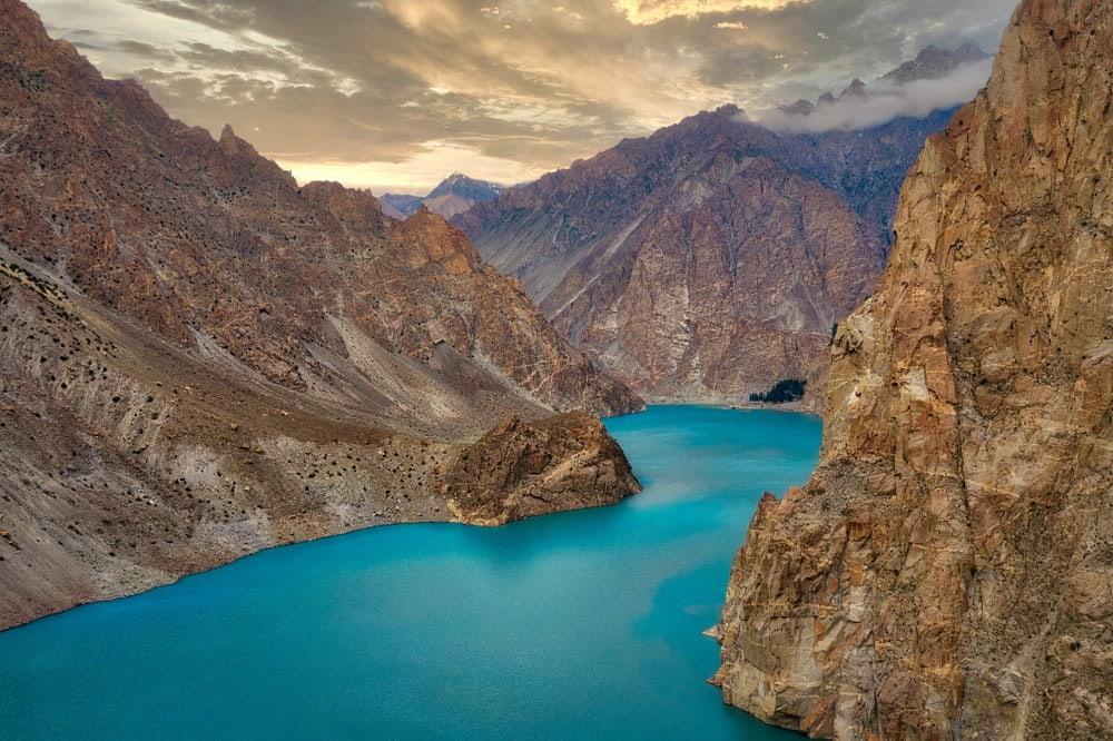 Blue attabad lake